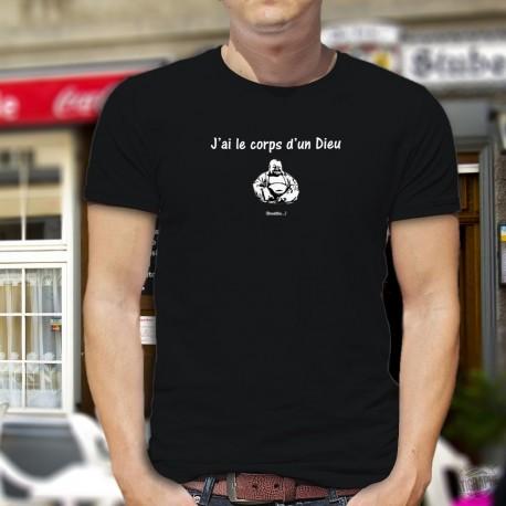 Men's cotton T-Shirt - J'ai le corps d'un Dieu ★