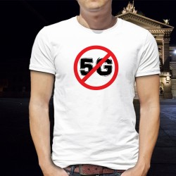 Segno di divieto 5G - telefono cellulare ★ Uomo T-Shirt