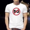 Panneau d'interdiction de la 5G - téléphonie mobile ★ T-Shirt homme