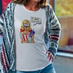 T-shirt - En mode télétravail ★ Retro Pop Art Girl ★