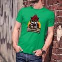 En mode télétravail ★ Chat hipster ★ T-Shirt coton homme