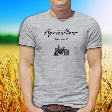 Agriculteur, What else ? ★ T-Shirt humoristique mode homme illustré d'un vieux tracteur (old Timer) et inspiré de ★ George ★