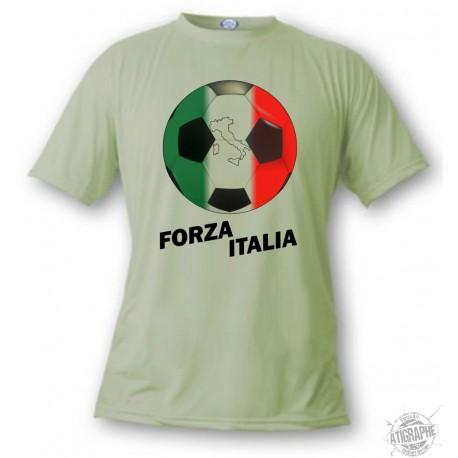 T-Shirt football - Forza Italia, Alpine Spruce
