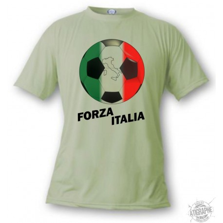 Women's or Men's Soccer T-Shirt - Forza Italia, Alpine Spruce