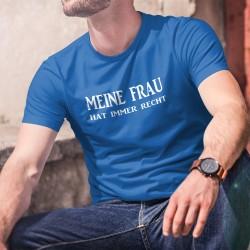 Meine Frau hat immer Recht ★ Herren Baumwolle T-Shirt, es sehr wichtig ist zu wissen, wie man ein Diplomat in einem Paar ist