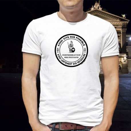 Aussi vite que possible ✚ Helvetic Confederation ✚ Men's T-Shirt