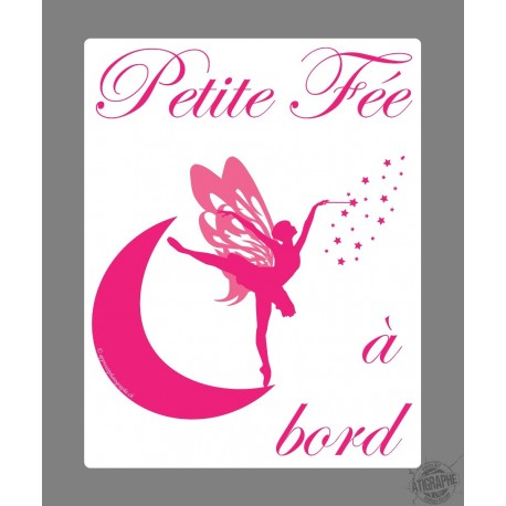 Car Sticker - Petite fée à bord, Rose