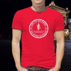 Aussi vite que possible ✚ Aussi lentement que nécessaire ✚ T-Shirt coton homme, nouvelle devise Suisse selon Alain Berset