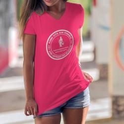 Aussi vite que possible ✚ Aussi lentement que nécessaire ✚ T-Shirt coton dame, devise Suisse selon notre ministre Alain Berset