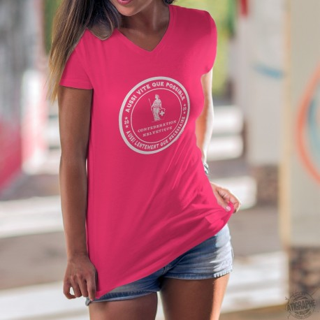 Aussi vite que possible ✚ Frauen Mode Baumwolle T-Shirt