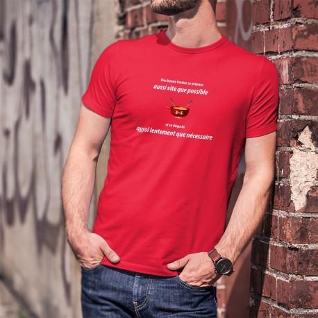 Une fondue aussi vite que possible ✚ Herren-Baumwoll-T-Shirt