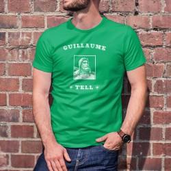 Gillaume Tell ✚ Helvetia ✚ T-Shirt coton homme. Avec ★ Dame Helvetia ★, Gillaume Tell est une icône emblématique de la Suisse