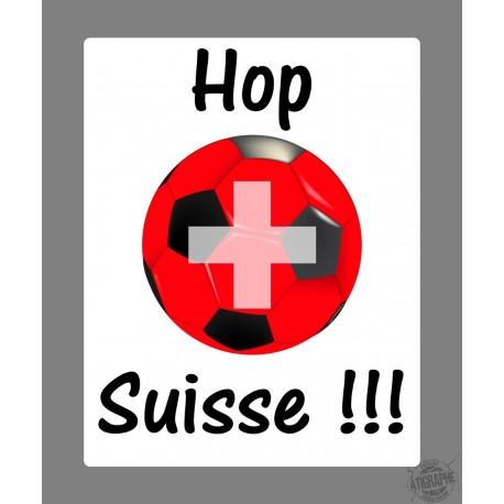 Sticker autocollant - Hop Suisse (ballon de football suisse)