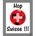 Sticker - Hop Suisse - in französisch