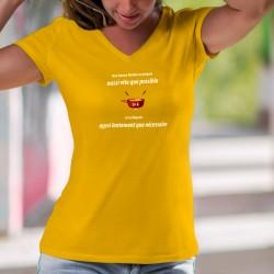 ✚ Une fondue se prépare aussi vite que possible et se déguste aussi lentement que nécessaire ✚ T-Shirt coton dame phrase culte