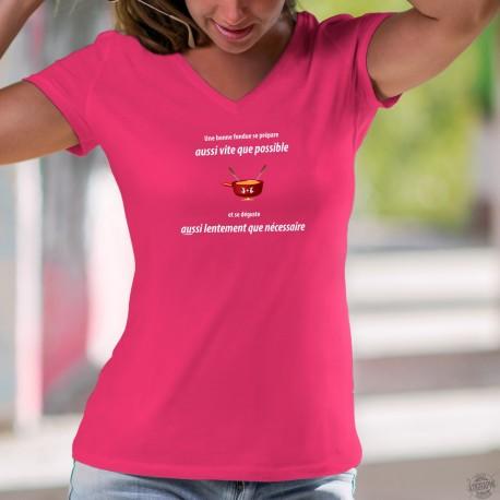 Une fondue aussi vite que possible ✚ Women's cotton T-Shirt