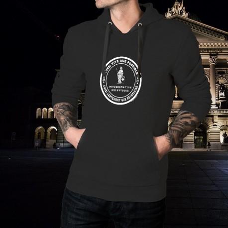Aussi vite que possible ✚ Aussi lentement ✚ Men's Cotton Hoodie