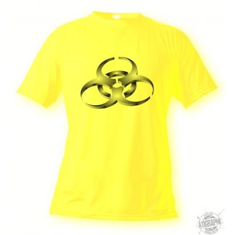 Women's or Men's T-Shirt - BioHazard, Safety Yellow