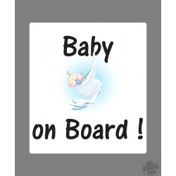 Sticker - Baby on Board - für Autodeko