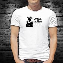 Aussi vite que possible mais aussi lentement que nécessaire, agir il faut ★ Yoda Berset ★ T-Shirt homme phrase culte