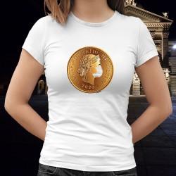 Maskierte Freiheit ✿ Confoederatio Helvetica ✿ Damenmode T-shirt (Schweizer patriotisches Symbol)