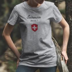 Suissesse, What else ? ✚ Quoi d'autre ? ✚ T-Shirt décontracté dame inspirée de Georges Clooney