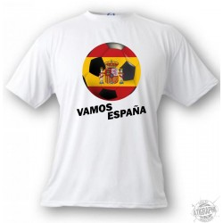 Women's or Men's T-Shirt - Vamos España, White