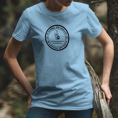 So schnell wie moeglich ✚ Confederazione elvetica ✚ Donna T-Shirt