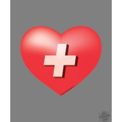 Sticker - Swiss Heart, for car, notebook, smartphone