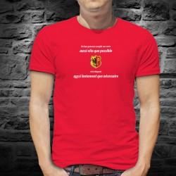 Un genevois remplit son VERRE aussi vite que possible ✚ T-shirt in cotone da uomo