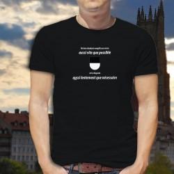 Un dzodzet remplit son VERRE aussi vite que possible ✚ T-Shirt coton homme phrase culte