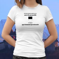 Donna moda T-shirt - Une dzodzette remplit son VERRE aussi vite que possible ❤