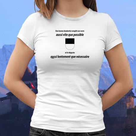 Mode T-shirt - Une dzodzette remplit son VERRE aussi vite que possible ❤