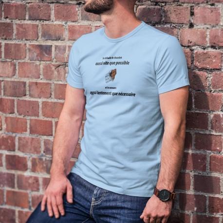 Men's T-Shirt - Je déballe le chocolat aussi vite que possible ✚