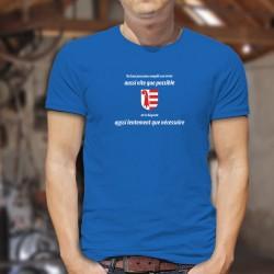 Un jurassien remplit son VERRE aussi vite que possible ✚ T-shirt in cotone da uomo