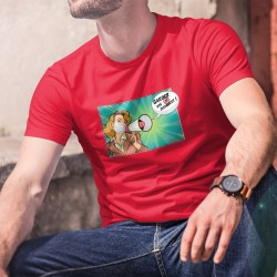 Men's Fashion cotton T-Shirt - Gardez vos distances ! ✪ POP ART ✪