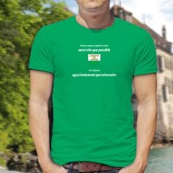 Un bon vaudois remplit son verre aussi vite que possible et le déguste aussi lentement que nécessaire ✚ T-Shirt coton homme