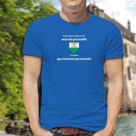Un vaudois remplit son VERRE aussi vite que possible ✚ Men's cotton T-Shirt