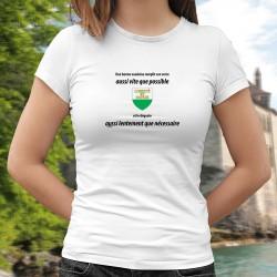 Donna moda T-shirt - Une vaudoise remplit son VERRE aussi vite que possible ❤