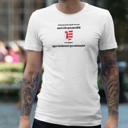 Men's T-Shirt - Un jurassien remplit son VERRE aussi vite que possible ★