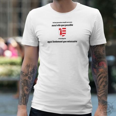 Men's T-Shirt - Un jurassien remplit son VERRE aussi vite que possible ★