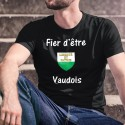 Baumwolle Waadtländer T-Shirt - Fier d'être Vaudois ★ écusson ★