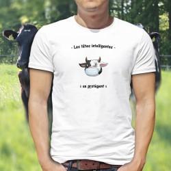Les têtes intelligentes se protègent ✪ taureau masqué ✪ T-Shirt homme, Afin de garder les gestes barrières lors du déconfinement