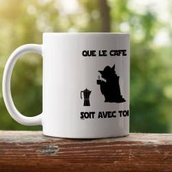 Que le Café soit avec Toi ★ Yoda ★ MUG tasse en céramique, cafetière italienne