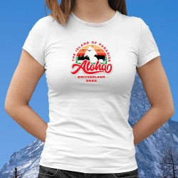 Aloha Switzerland 2020 ❤ The Island of Paradise ❤ T-Shirt donna