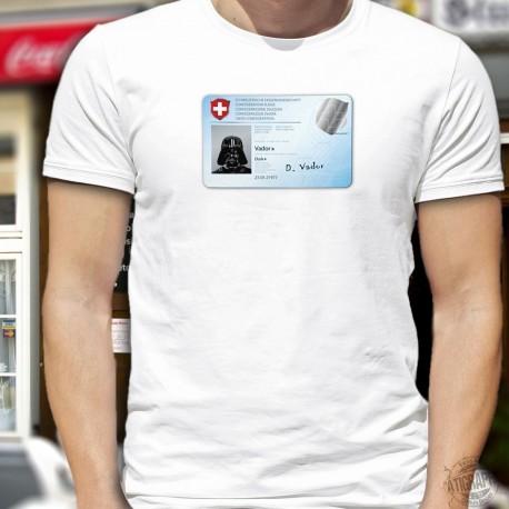 Carte d'identité suisse ✪ Dark Vador ✪ T-Shirt homme, pour être reconnu même en portant un masque