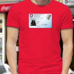 Carte d'identité ✪ Dark Vador ✪ T-Shirt coton homme, pour être reconnu même en portant un masque chirurgical