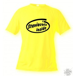 Men's Funny T-Shirt - Staviacois inside, Safety Yellow