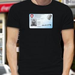 Carte d'identité ✪ Hannibal Lecter ✪ T-Shirt coton homme, pour être identifier même en portant un masque chirurgical