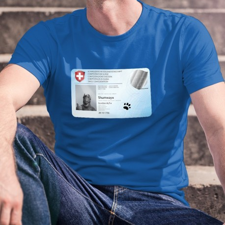 Carte d'identité ✪ Gordon ALF Shumway ✪ T-Shirt coton humoristique homme déconfinement masqué